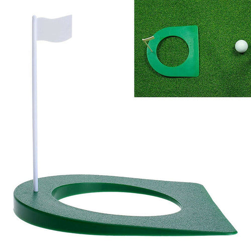 Golf Putting Cup Practice Aids Putter Backyard Training + Flag Indoor Outdoor - fingertensport