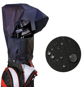 Golf Bag Cover Rain Hood Waterproof Value Pack, Black Rain Cape for Golf Bags fit Almost All Tourbags Golfbags or Carry Cart - fingertensport