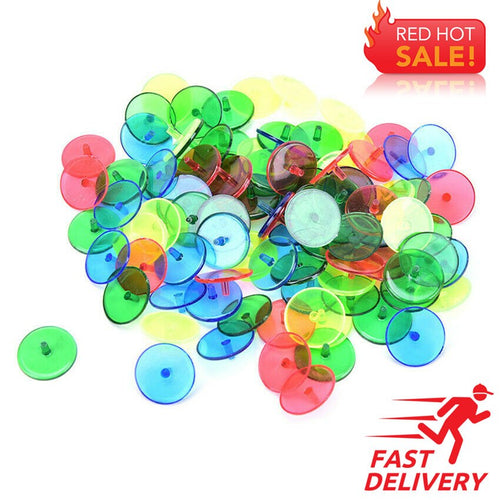 Golf Marks Plastic 24mm Sports Position Training Aids 100/200 Pcs Outdoor Ball Golf Marker Golf Ball Plastic Mark Base Set - fingertensport