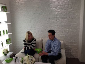 Dr. Lin with Kayla Spear from Ok Magazine