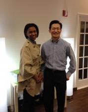 Dr. Lin with Deena Campbell of Essence Magazine