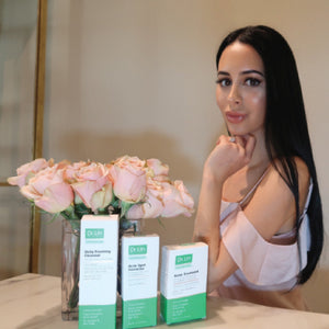 Beautiful Blogger, Natalie Papazian, loves our Acne Cleanser to keep her face free from acne
