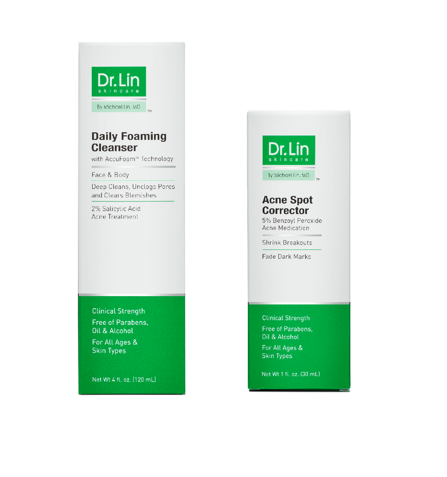 Giveaway Special: 2 Step Acne Clarifying Kit (For Mild or Occasional Acne) - Dr. Lin Skincare