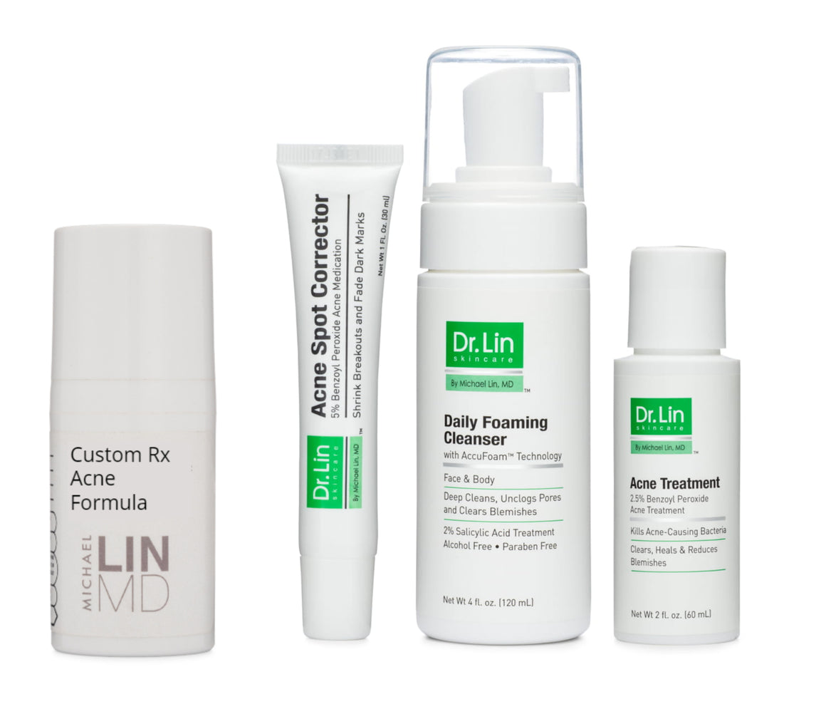 Acne Prescription Formula Kit + Teledermatology Visit - Dr. Lin Skincare