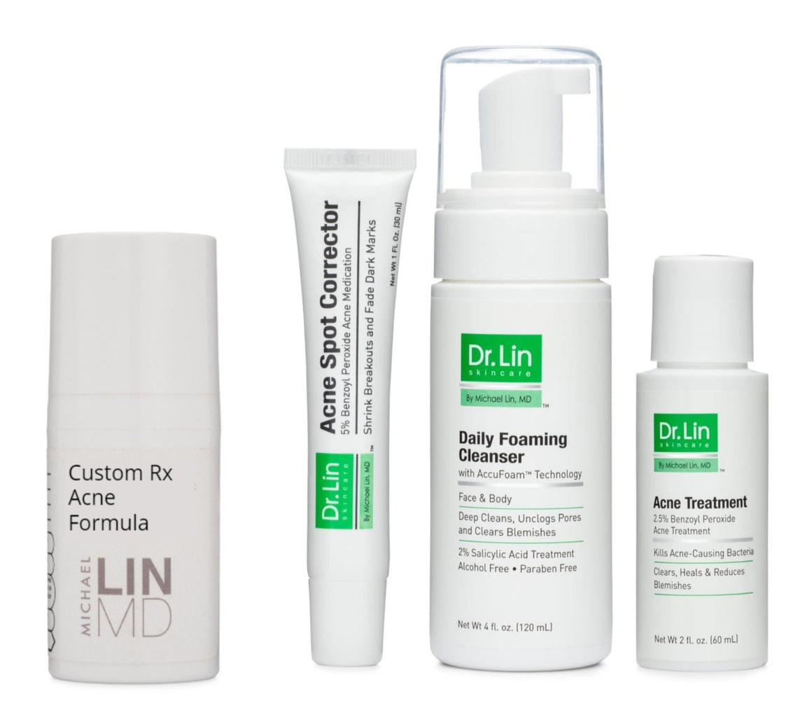 Acne Prescription Formula + 3 Step Kit + Hydrating Gel - Dr. Lin Skincare
