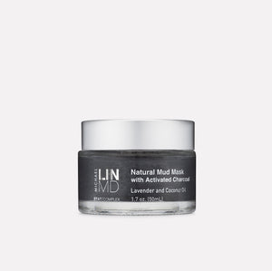 Natural Mud Mask with Activated Charcoal, Lavender and Coconut Oil 1.7 oz.
