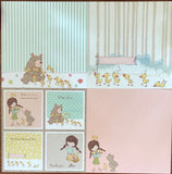Girl & Animals Paper Pad
