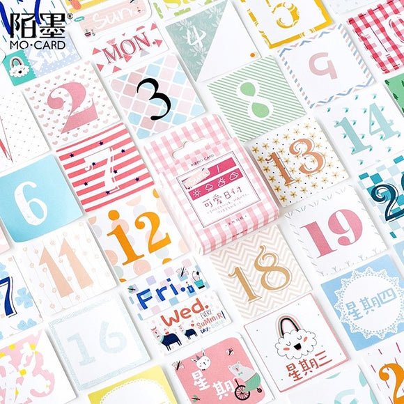 Colorful Calendar Stickers