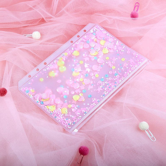 Pink Sequins Pouch