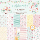 Unicorn Birthday Party Paper Pack