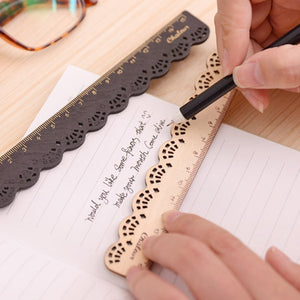 2 Pieces Wooden Rulers