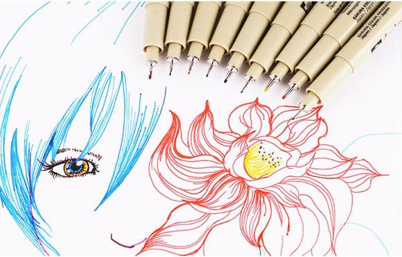 8 piece Fine Line Color Pen Set