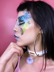 Crazy Makeup Anyixin White moonstone choker necklace