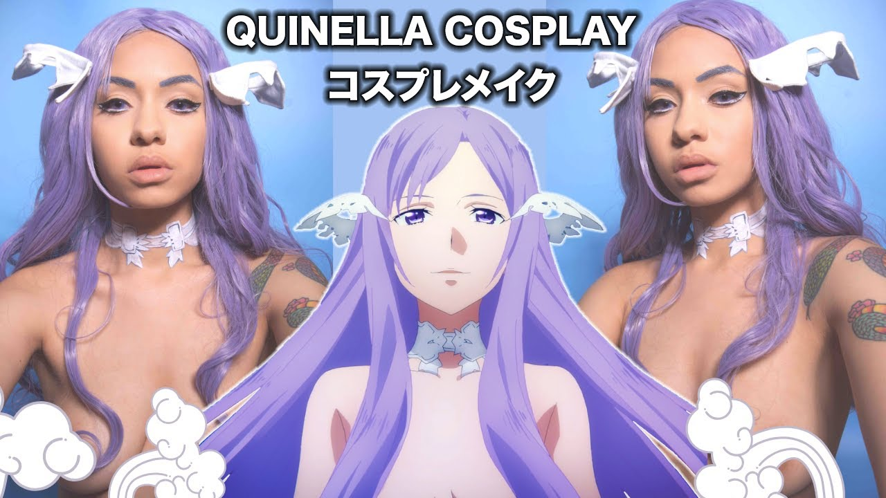 QUINELLA SAO Cosplay TUTORIAL & COSPLAY BODY PAINT ソードアートオンライン・クィネラコスプレメイクSword Art Online Cosplay