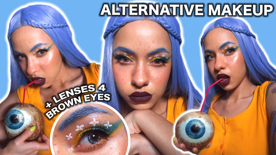 Alternative Makeup 2020 - Flower Power Makeup - Princess Pinky Twilight Reborn Blue