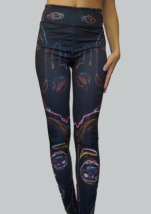 Neon Vision Leggings Front