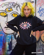 Load image into Gallery viewer, Elbow Vision - Rainbow Eye Hoodie in Black