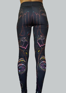 Neon Vision Leggings Back