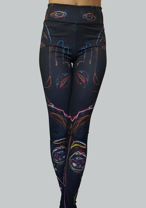 Neon Vision Leggings Front Crossed