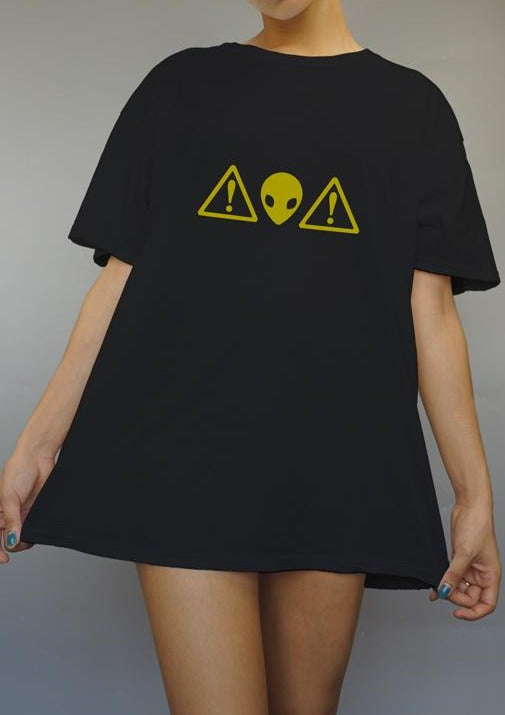Alien Warning Graphic Tee