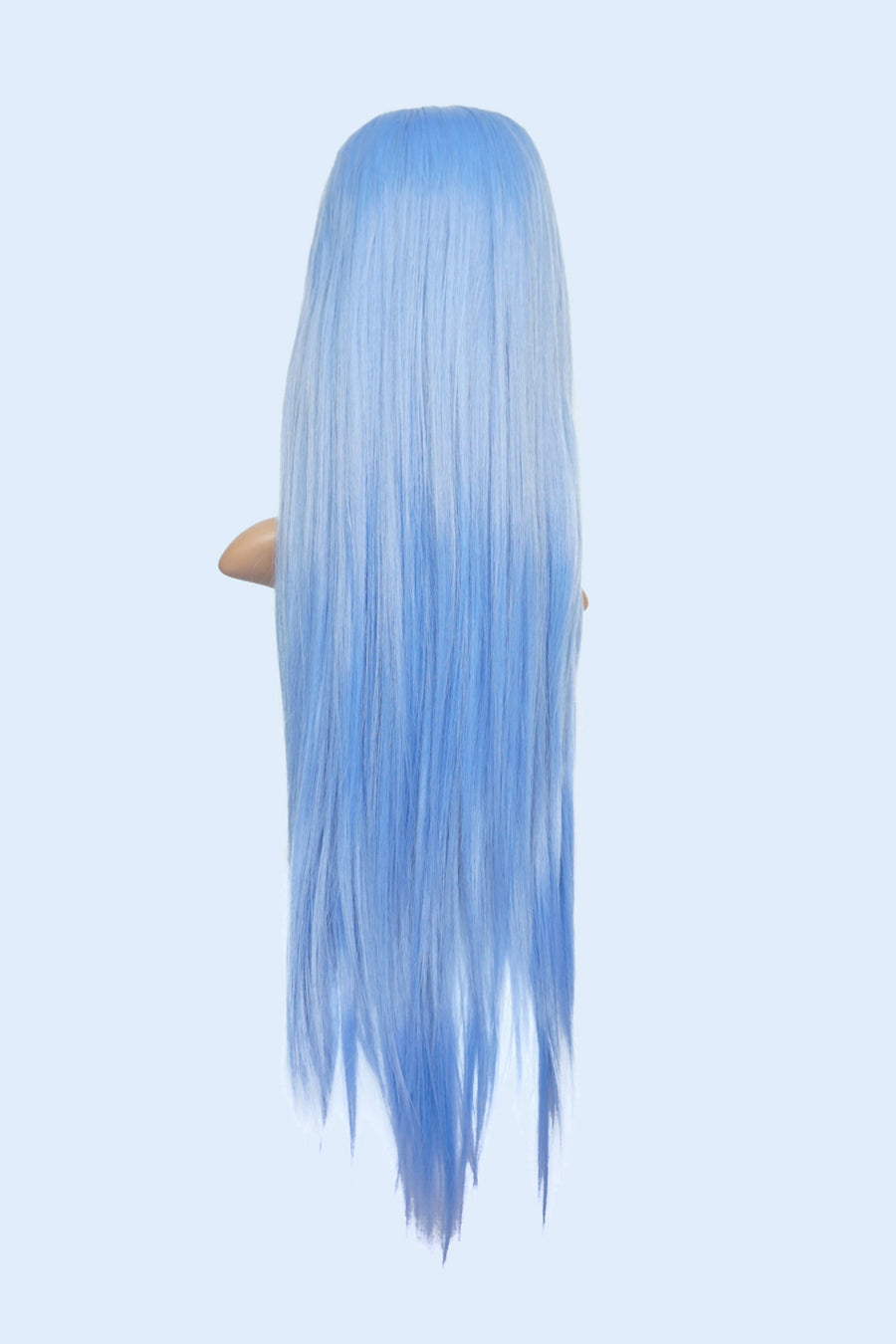 Ice Cold Pastel Blue - Long Straight Front Lace Wig