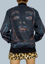 Load image into Gallery viewer, Neon Vision - Black Bomber Jacket