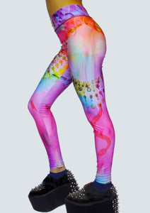 Egyptian Bliss - Rainbow Leggings - Left