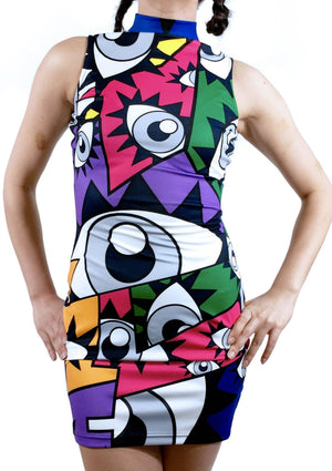 Eye See You Rainbow Dress