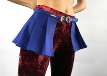 Load image into Gallery viewer, Peplum Skirt in Blue