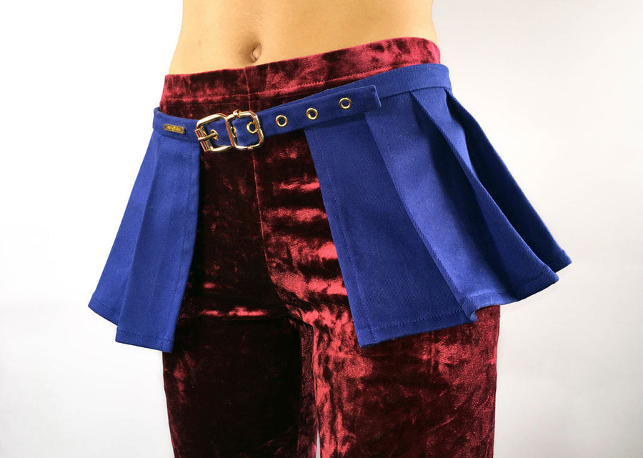 Peplum Skirt in Blue
