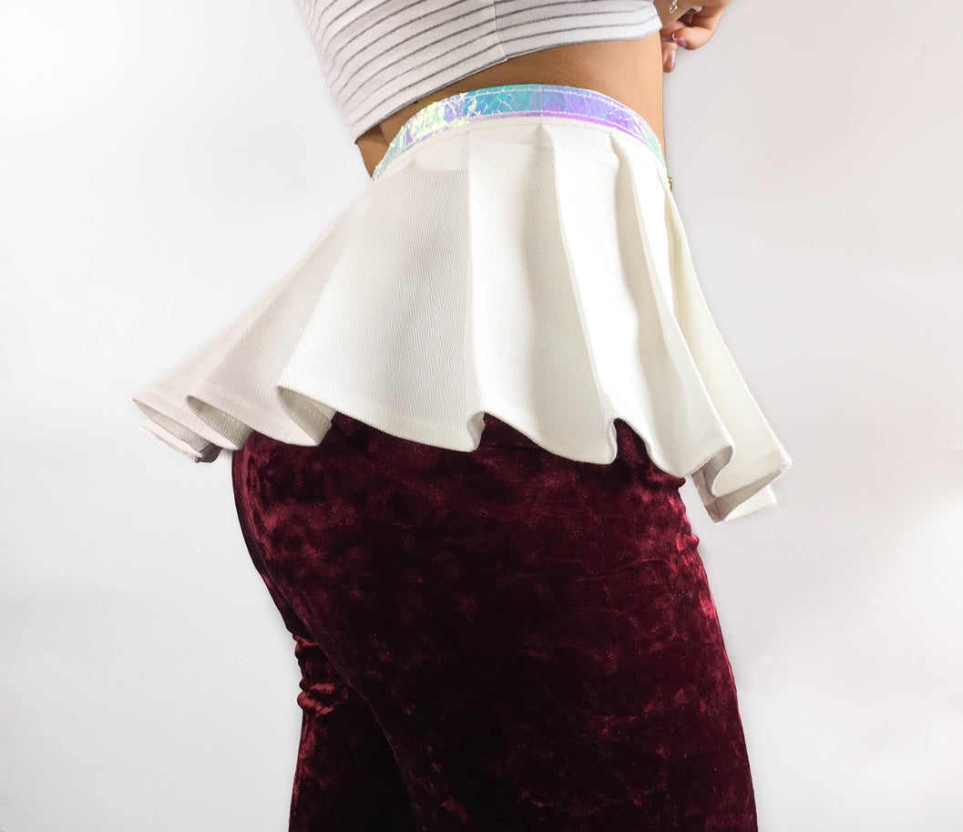 Unicorn Peplum Skirt In White