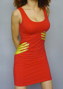 Alien Touch - Graphic Red Dress