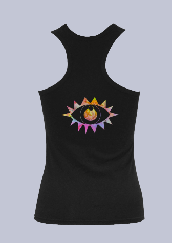 Rainbow Vision Tank Top in Black