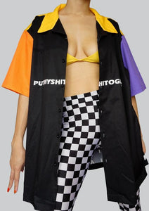 PutMyShiTogether Boyfriend Button Shirt front2