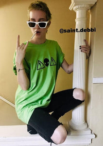 Alien Warning Tee Green @saint.debbi