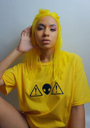 Alien Warning Tee Yellow