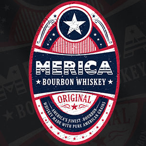 Merica Bourbon Label