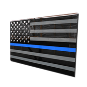 Molten Metal Sign - Thin Blue Line