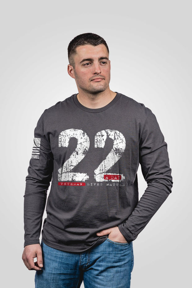 Mens Long Sleeve - 22 A Day