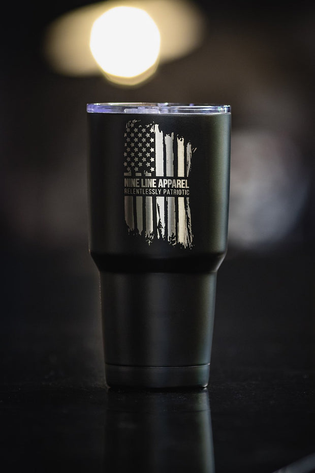 30oz Vacuum Insulated Tumbler Laser Engraved - America