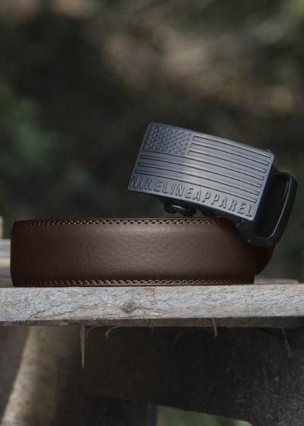 Leather Belt - American Flag