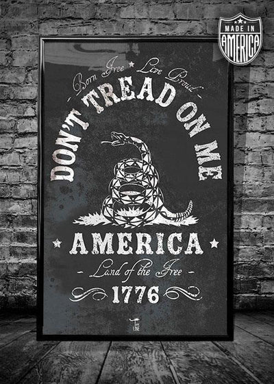 Don't tread on me standard size wall poster