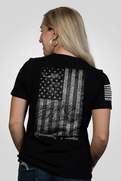 Women's T-Shirt - American Drop Line
