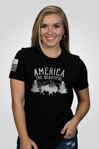 Women's Relaxed Fit T-Shirt - America the Beautiful