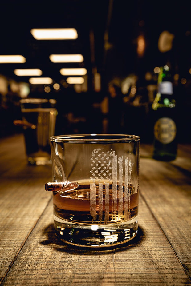 American Made .308 Whiskey Glass - America