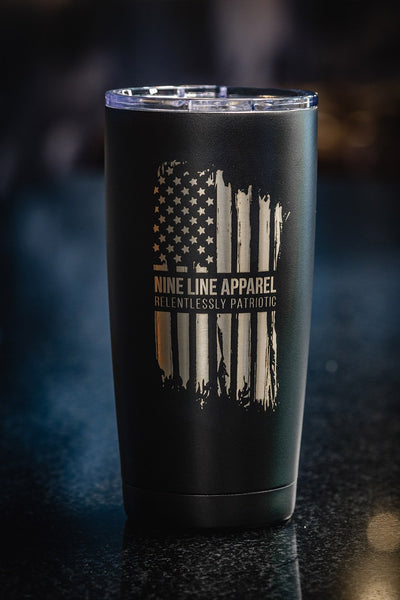 20oz Vacuum Insulated Laser Engraved Tumbler - America