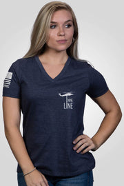Women's Relaxed Fit V-Neck Shirt - America