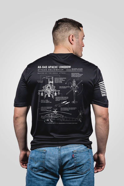 Men's Moisture Wicking T-Shirt - AH-64D Apache