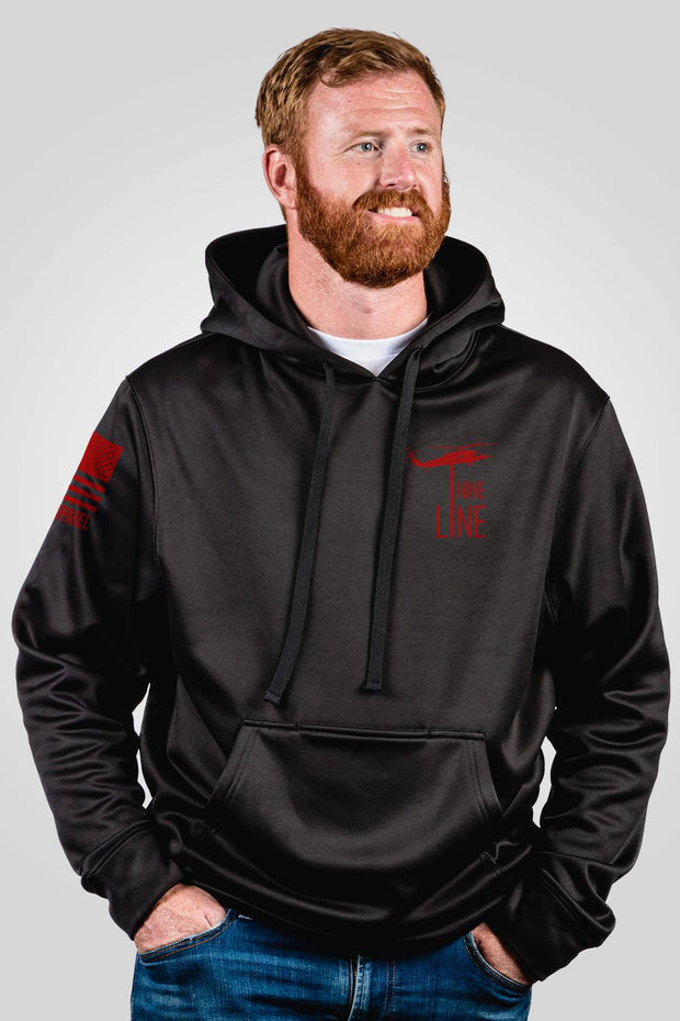 Athletic Tailgater Hoodie - Red Drop Line