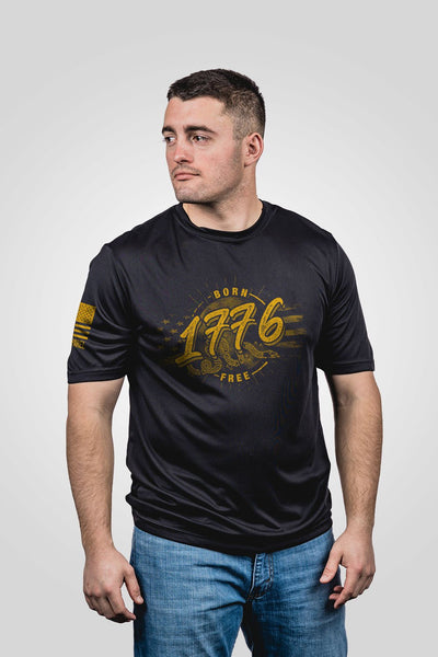 Men's Moisture Wicking T-Shirt - We are born free